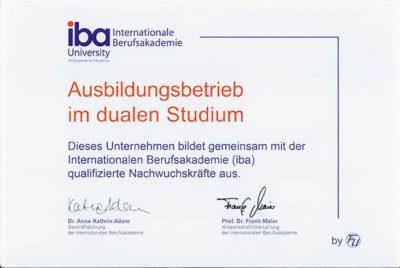 iba-Zertifikat