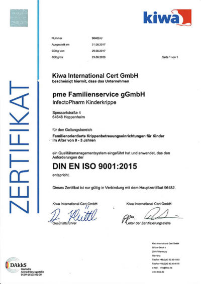 InKi ISA 9001:2000 zertifiziert